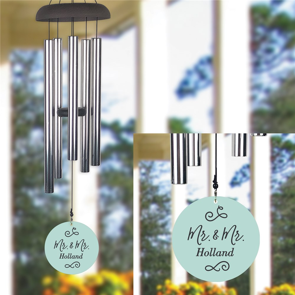 Personalized Mr. & Mrs. Wind Chime