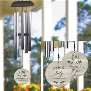 Personalized Wherever I'm With You Wind Chime