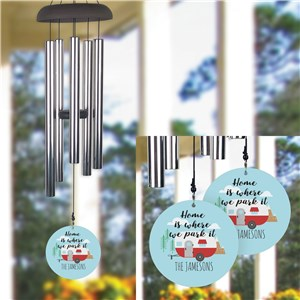 Personalized Home Is Where We Park It Wind Chime