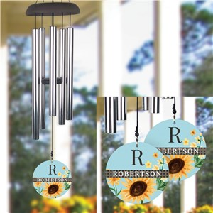 Personalized Sunflowers Wind Chime