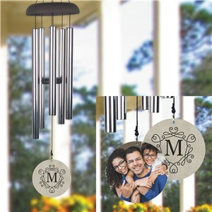 Personalized Monogram Wind Chime with Photo