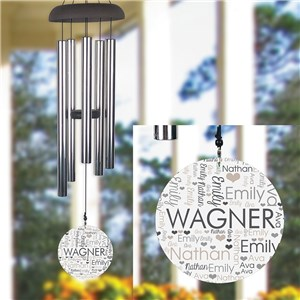 Personalized Word-Art Wind Chime