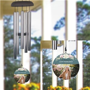 Personalized Floral with Photo Memorial Wind Chime