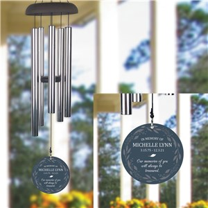 Personalized Memories of You with Wreath Wind Chime
