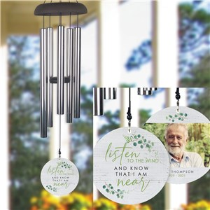 Personalized Listen To the Wind Memorial Wind Chime