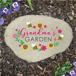 Personalized Bees and Sunflowers Flat Garden Stone UV1769915