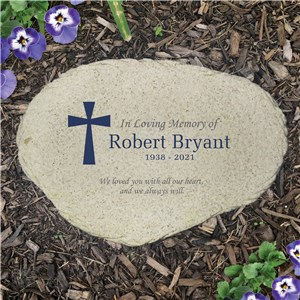 Personalized In Loving Memory Flat Garden Stone