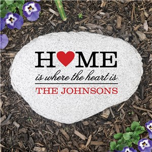 Personalized Family Heart Flat Garden Stone