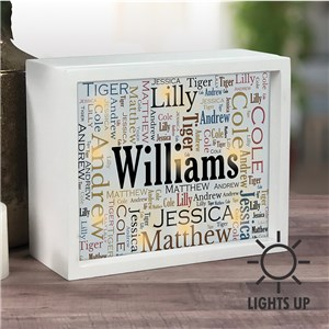 Personalized Shadow Box | Name Gifts