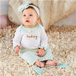 Mermaid Personalized Baby Outfit Set V00029