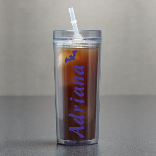 Any Name Clear Acrylic Tumbler | Personalized Halloween Cup