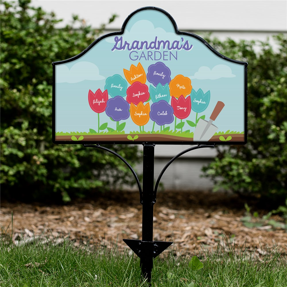 Personalized Grandma's Garden Magnetic Sign