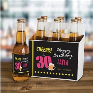 Personalized Cheers to Beer Label and Carrier Set | Personalized Birthday Gifts