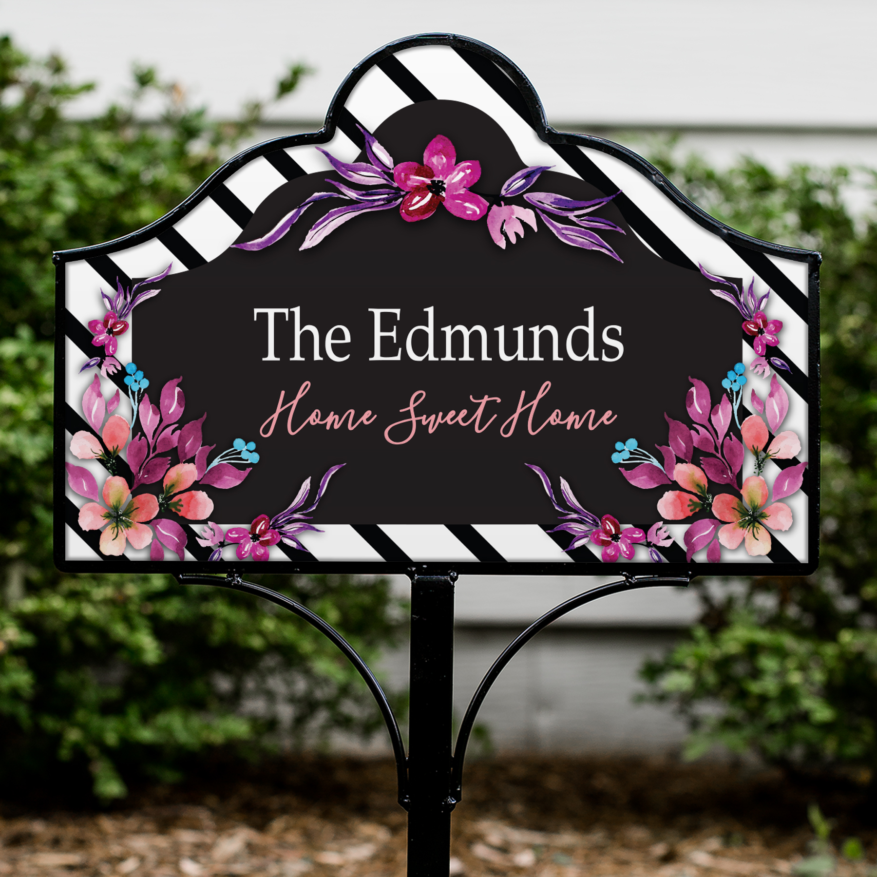 Personalized Vibrant Floral Magnetic Sign V1277134
