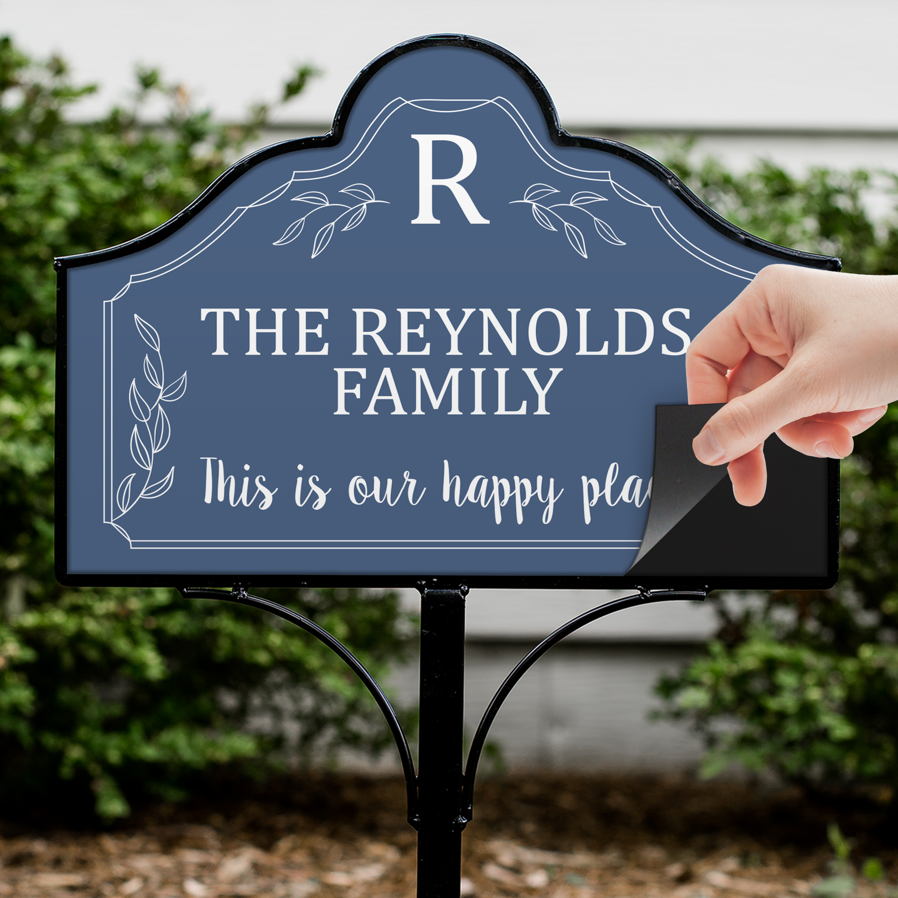 Personalized Happy Place Magnetic Sign | Personalized Home Decorations
