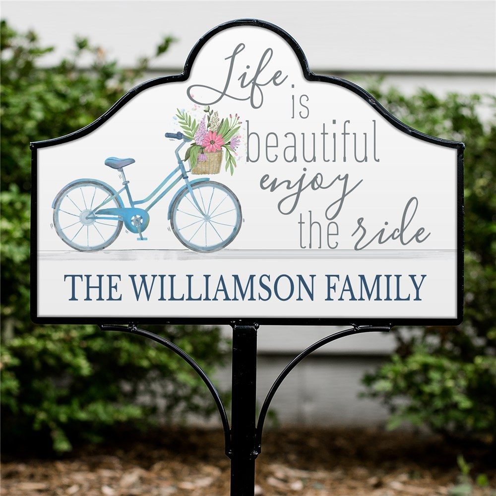 Personalized Life is Beautiful Magnetic Sign | Personalized Yard Signs