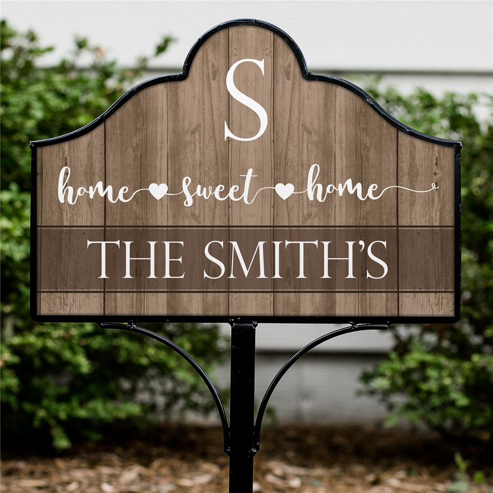 Personalized Home Sweet Home Heart Magnetic Sign Set | Personalized Welcome Sign