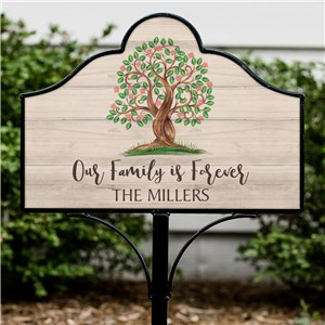 Personalized Our Family is Forever Magnetic Sign | Personalized Yard Signs