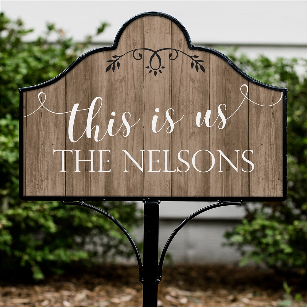 Personalized This is Us Magnetic Sign | Personalized Garden Signs