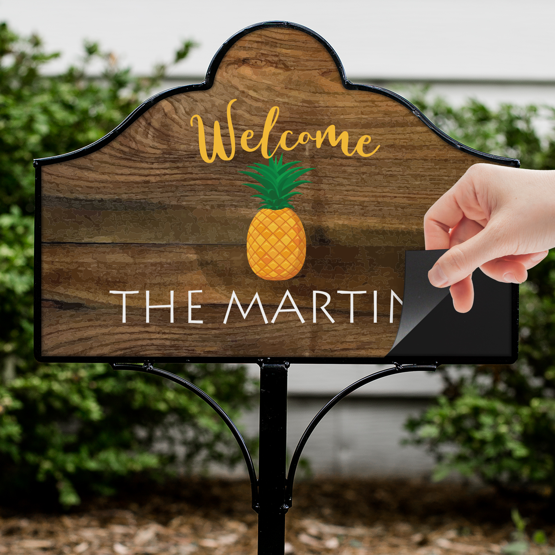 Personalized Welcome Pineapple Magnetic Sign Set | Personalized Welcome Signs