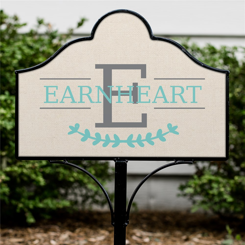 Personalized Family Initial Magnetic Sign | Customized Yard Signs