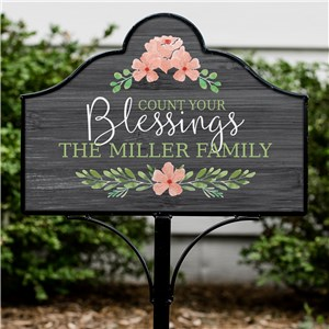 Personalized Count Your Blessings Magnetic Sign | Customized Yard Signs