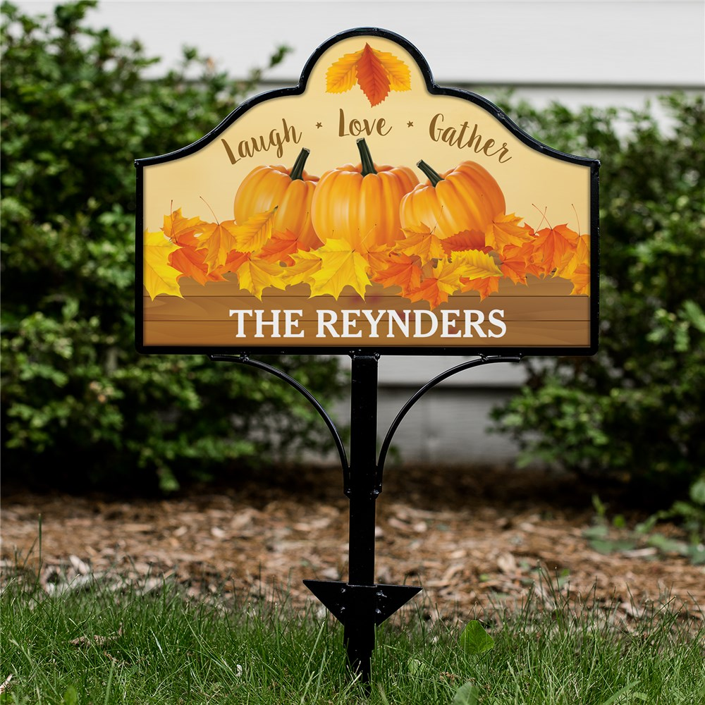Personalized Laugh Love Gather Magnetic Yard Sign