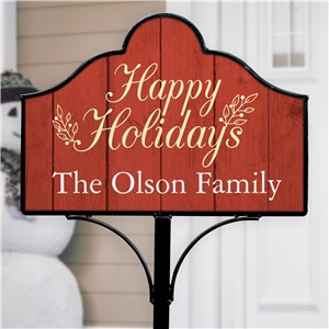 Happy Holidays Christmas Signs | Personalized Christmas Decor