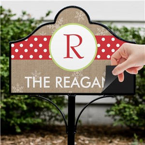 Personalized Whimsical Polka Dot Initial Magnetic Yard Sign | Personalized Magnetic Signs