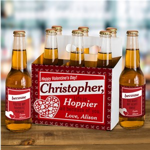 Valentine's Day Beer Carrier | Personalized Beer Carrier