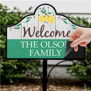 Personalized Spring Home Decor | Lemon Themed Yard Sign