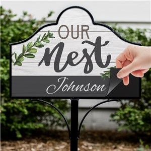Magnetic Yard Sign | Personalized Nest Sign
