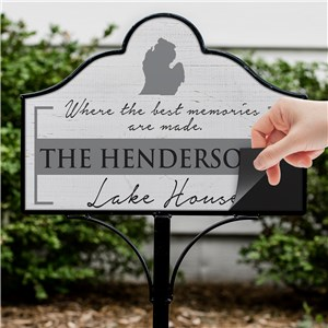Personalized Metal Yard Sign | Magnetic Home Signs Personalized