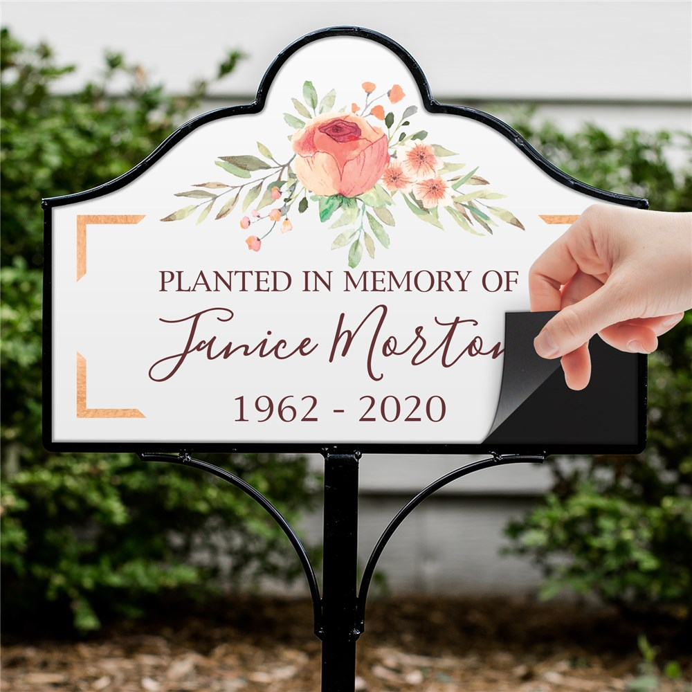 Personalized Magnet For Yard Sign | Personalized Condolence Gift