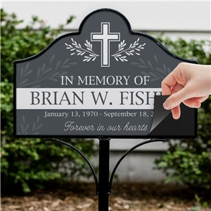 Personalized Grave Marker | Magnetic Memorial Sign For Garden Stake Set
