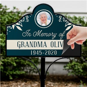 Personalized Grave Marker | Magnetic Memorial Sign