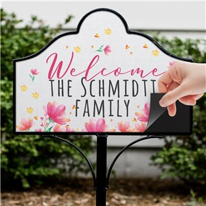 Personalized Spring Welcome Magnetic Sign