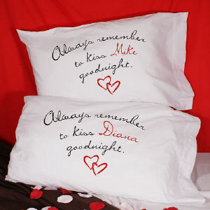 Always Remember To Kiss Goodnight Custom Pillowcase