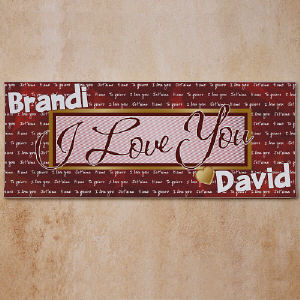 I Love You Wall Canvas