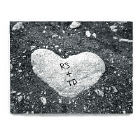 Personalized Heart of Stone Wall Canvas