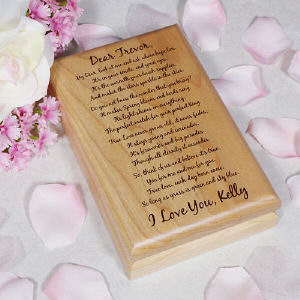 To My Love... Personalized Valet Box