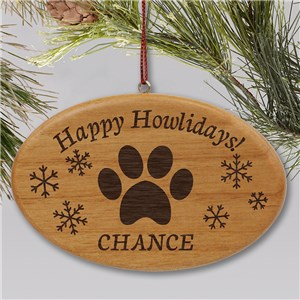 Personalized Meowy Christmas Wood Ornament W138142