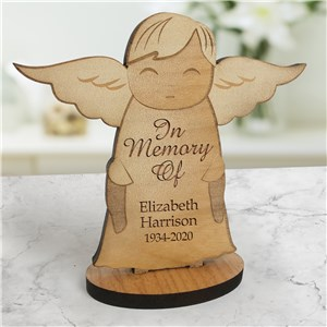 Engraved Angel | Personalized Wooden Angel Memorial