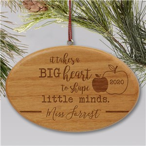 Engraved Teacher Ornament | Wood Personalized Ornament For Teacher
