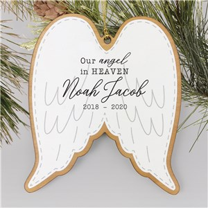 Customized Memorial Ornaments | Angle Wings Remembrance Ornament