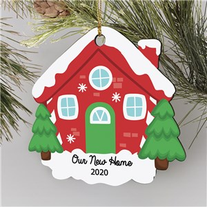 Personalized House Ornaments | Little Red House Ornament