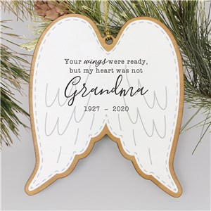 Customized Memorial Ornaments | Personalized Angel Wings Ornament