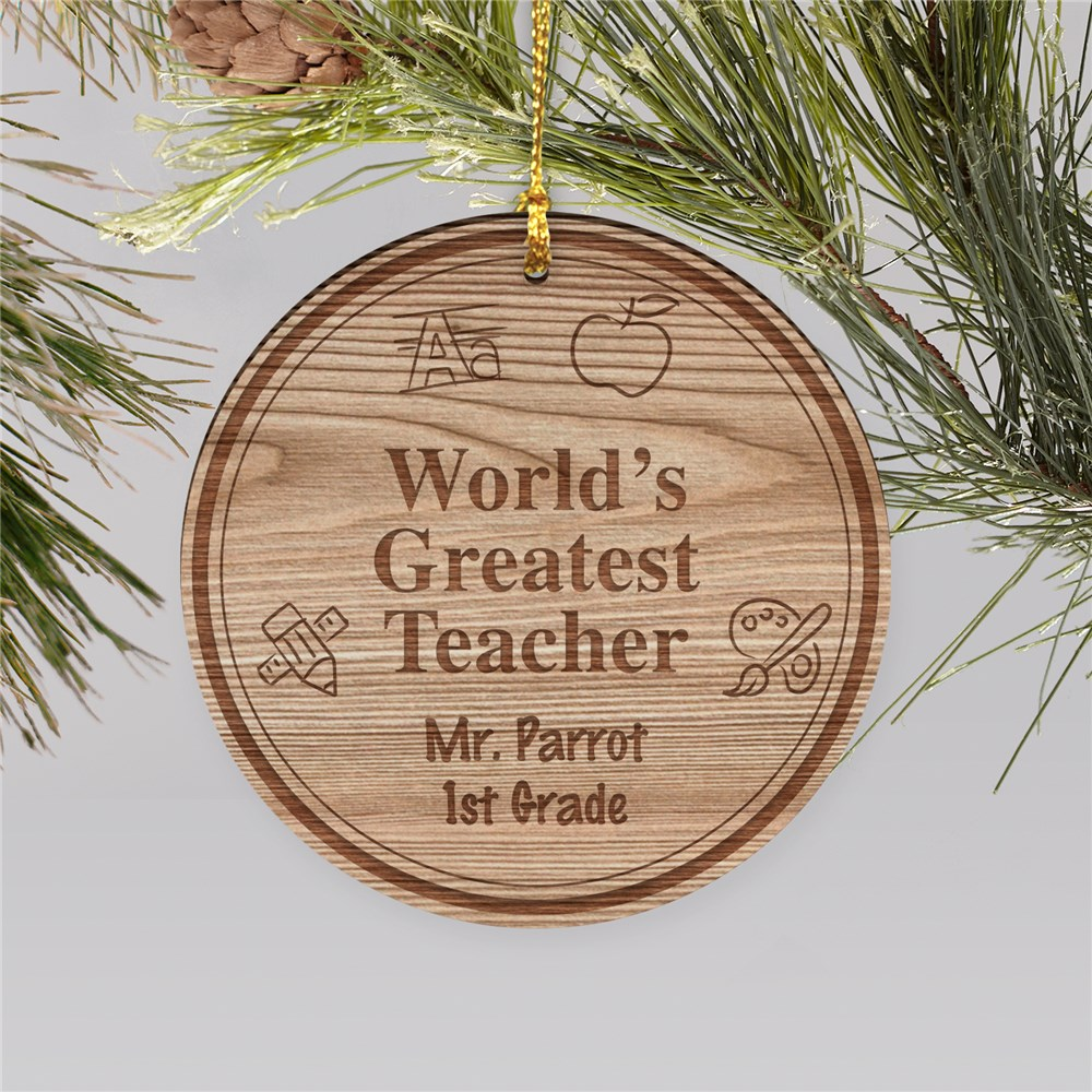 Personalized Teacher Christmas Ornament | Personalized Teacher Ornaments