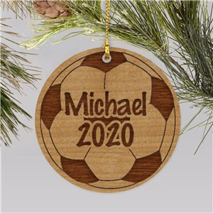 Personalized Soccer Ball Christmas Ornament | Personalized Soccer Ornaments