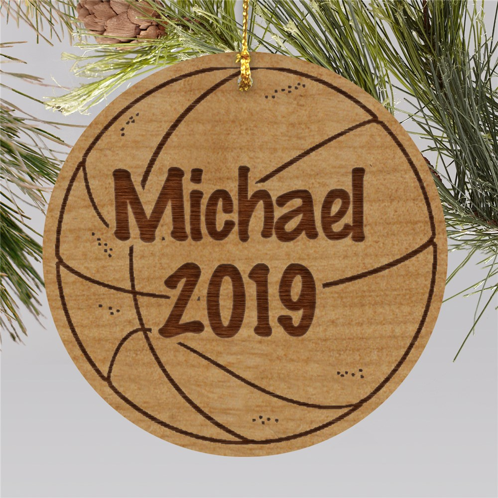 Personalized Basketball Christmas Ornament | Personalized Sports Ornaments